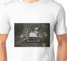 Bridge Over a Creek Mouth (French Beach Provincial Park, Vancouver Island, British Columbia, Canada) Unisex T-Shirt