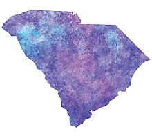 South Carolina Watercolor Photographic Print