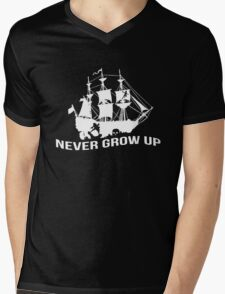 Peter Pan - Never grow up Mens V-Neck T-Shirt
