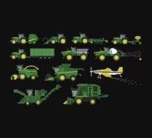 Farm Vehicles - The Kids' Picture Show - Pixel Art Baby Tee