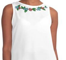 A String of Flowers Contrast Tank