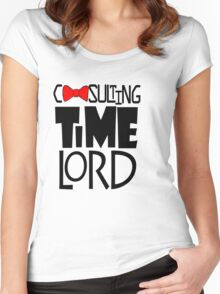 Consulting Time Lord Women's Fitted Scoop T-Shirt