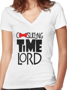 Consulting Time Lord Women's Fitted V-Neck T-Shirt