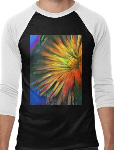 Painted Flower Men's Baseball ¾ T-Shirt