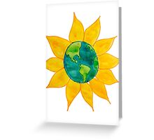 Watercolor Earth Flower Greeting Card