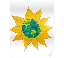 Watercolor Earth Flower Poster