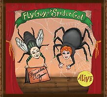Sideshow Fly Guy and Spider Gal Together Again by Kim  Harris