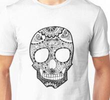 Zentangle Hipster Skull Unisex T-Shirt
