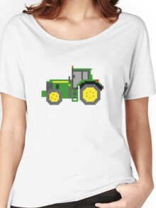 Tractor #2 - The Kids' Picture Show - Pixel Art Women's Relaxed Fit T-Shirt