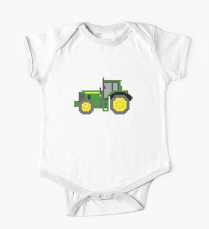Tractor #2 - The Kids' Picture Show - Pixel Art One Piece - Short Sleeve