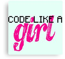 Code Like A Girl Canvas Print