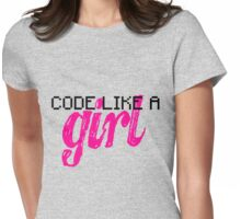 Code Like A Girl Womens Fitted T-Shirt