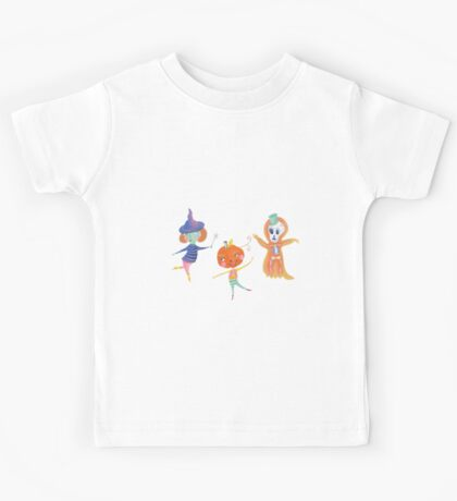 pumkie, skullie and hanky are having a party Kids Tee