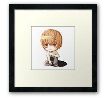 Death Note - Chibi Light Framed Print