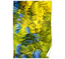 Sea Breeze Mosaic Abstract Poster