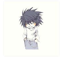 Death Note - Chibi L Art Print