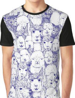 just alpacas blue white Graphic T-Shirt