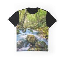 River flowing through rocks Graphic T-Shirt