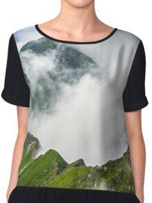 Misty rocky mountains Chiffon Top