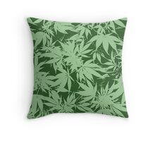 cannabis marijuana leaf design Throw Pillow