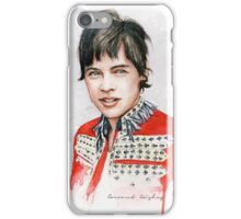 H Watercolor V (RED) iPhone Case/Skin