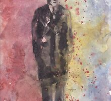 Mack The Knife Original Watercolor by Shaun Groenesteyn