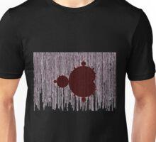 Mandelbrot Set Matrix Code (Red Oxblood Maroon) Unisex T-Shirt
