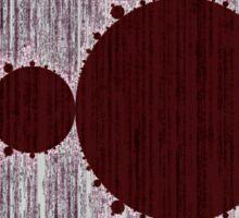 Mandelbrot Set Matrix Code (Red Oxblood Maroon) Sticker