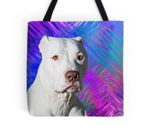 White American Pit Bull Terrier Dog Tote Bag
