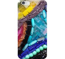Many Paths - Detail of Original Mixed Media Mosaic Art Mirror  iPhone Case/Skin