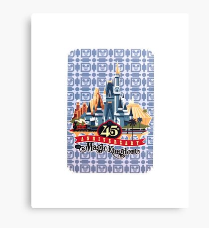 Magic Kingdom 45th Anniversary Canvas Print