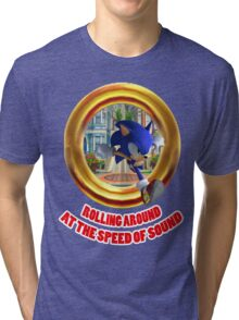 Sonic the Hedgehog - Rolling Around At The Speed of Sound Tri-blend T-Shirt