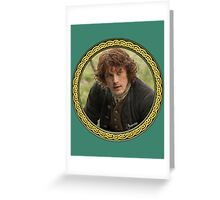 Jamie Fraser in Celtic knot frame Greeting Card