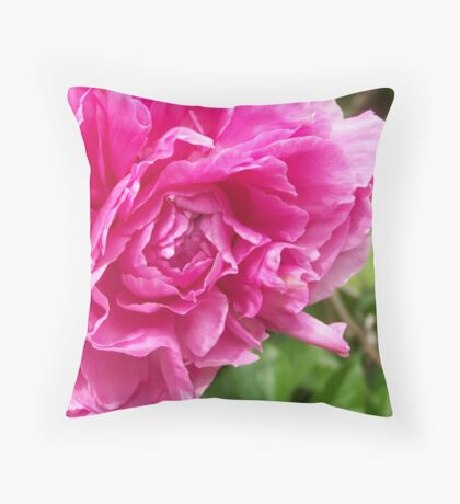 Flossie Peony Throw Pillow