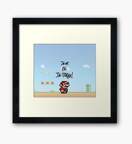 Vintage Mario Framed Print