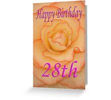 Happy 28th Birthday Flower Greeting Card