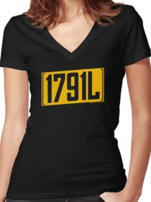 Classic 1791L T-Shirt Women's Fitted V-Neck T-Shirt