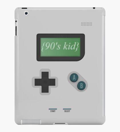 {90's Kid} Retro Game (No Outline) iPad Case/Skin