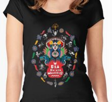 Dia de los Muertos Women's Fitted Scoop T-Shirt