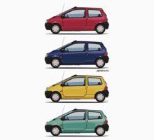Renault Twingo 90s Colors Quartet One Piece - Long Sleeve