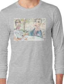 Rajath and James Discussing No-Self at the Rushcutters Bay Tennis Kiosk Long Sleeve T-Shirt
