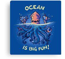 Joyful Kraken Canvas Print