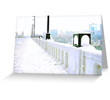 Just a Glimpse of Downtown Knoxville from the Henley Street Bridge, Knoxville, Tennessee Greeting Card