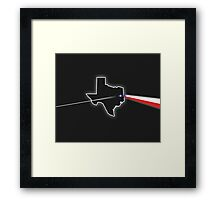 Dark Side of Texas Framed Print