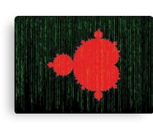 Mandelbrot Set Matrix Code (Red Black) Canvas Print