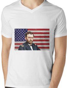 U.S GRANT 5 Mens V-Neck T-Shirt