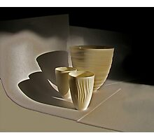 john's porcelain in the early morning sunlight Photographic Print
