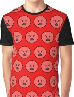 Sad emoji face on red background Graphic T-Shirt
