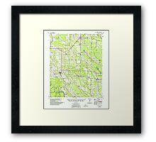 USGS TOPO Map Arkansas AR Holly Grove 260097 1957 62500 Framed Print