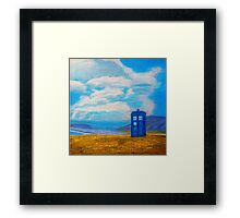 TARDIS: Seaside Stop Framed Print
